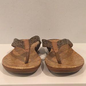 5d5ed6ad62b Dkny Shoes - DKNY Sarasota Brown Thong Sandals Size 10